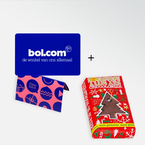 Bol.com cadeaubon met Tony's Chocolonely Glühwein reep