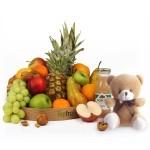 Fruitmand met knuffelbeer standaard