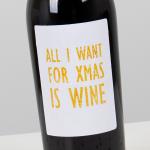 Rode wijn 'Supreme' met Kerst etiket