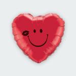 Hart met smile ballon