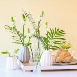 Brievenbus bloemen wit