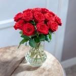 Brievenbus rozen rood