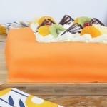 Marsepeintaart luxe oranje