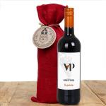 Vino de Prestigio in jute wijnzak