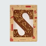 Chocoladeletter karamel-zeezout - S