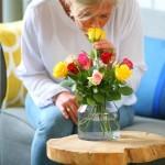 Brievenbus rozen gemengd